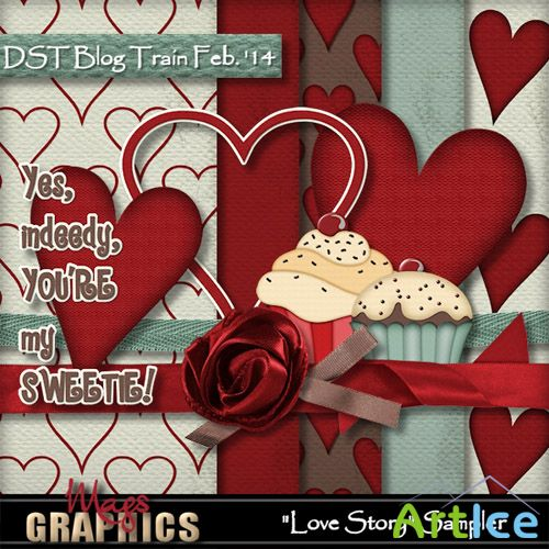 Scrap - Love Story PNG and JPG Files