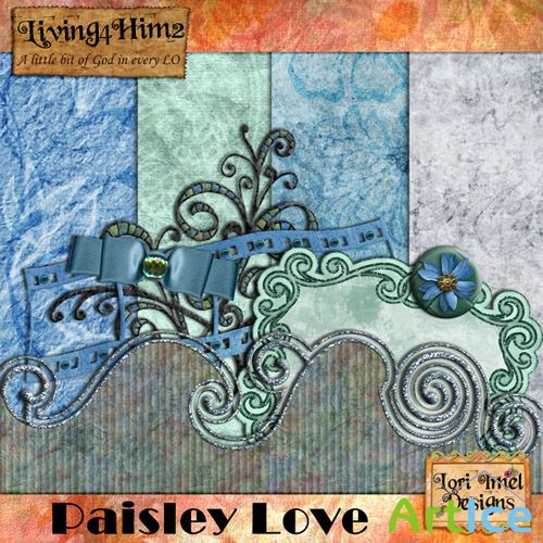 Scrap Set - Paisley Love PNG and JPG Files