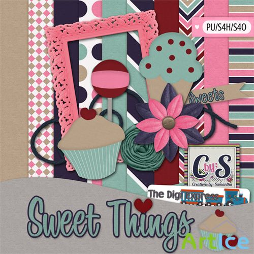Scrap - Sweet Things PNG and JPG Files