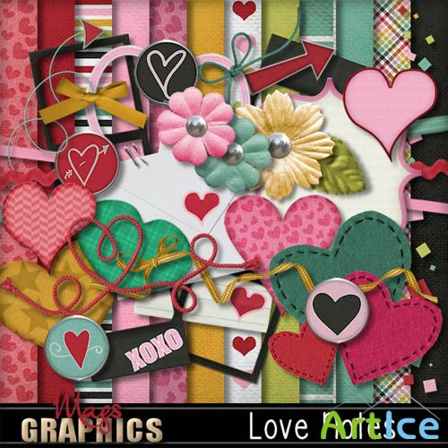 Scrap - Love Notes Kit PNG and JPG Files