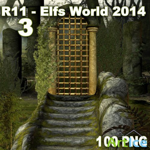 Elfs World 2014 - 3 PNG and JPG Files
