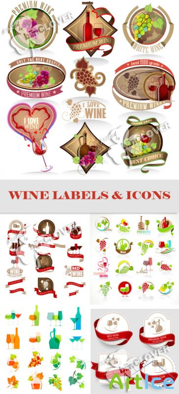 Wine labels and icons 0564