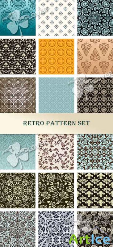 Retro pattern set 0564