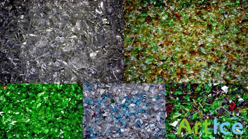 Crushed Coloured Glass Textures JPG Files