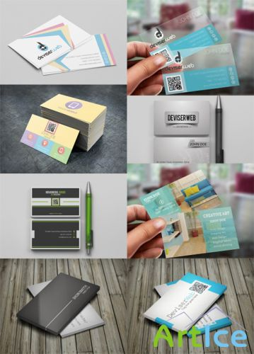8 Modern and Creative Business Cards PSD