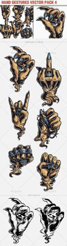 Hand Gestures Vector Illustrations Pack 4
