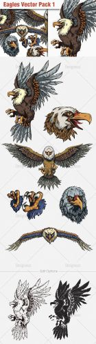 Eagles Vector Illustrations Pack 1