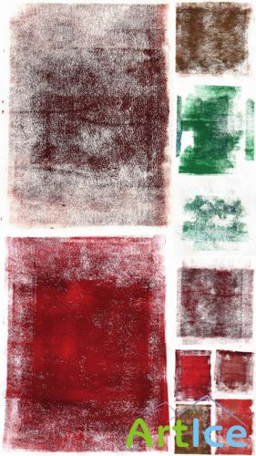Rolled Paint Grunge Hi-Res Textures Set 2