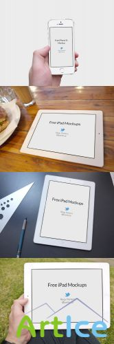 iPad and iPhone 5s Mockups Templates PSD