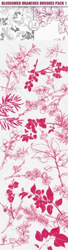 Blossomed Branches Photoshop Brushes Pack 1