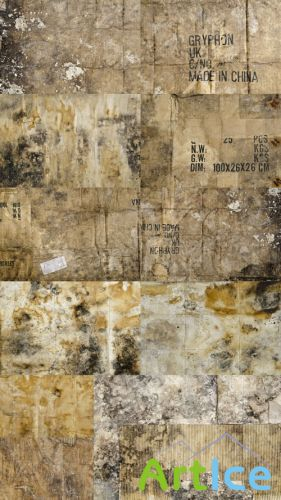 11 Old Dirty Cardboard Textures JPG Files