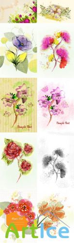 Floral Vector Illustrations Volume 1