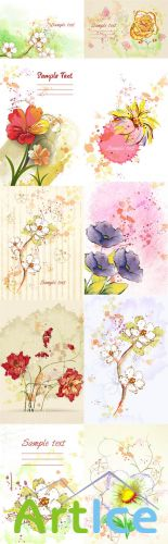 Floral Vector Illustrations Volume 3