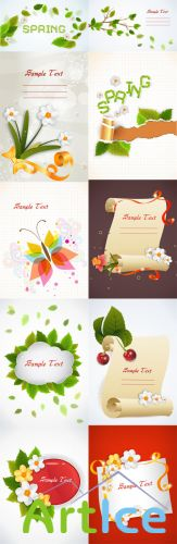 10 Spring Vector Illustrations Volume 1