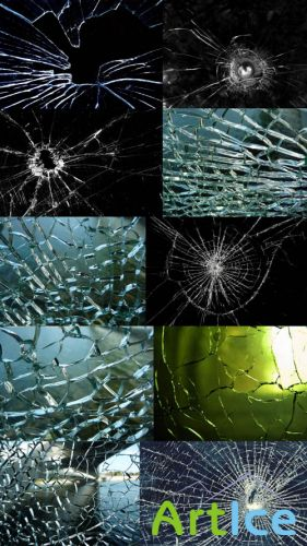 Broken glass texture Set 1 JPG Files
