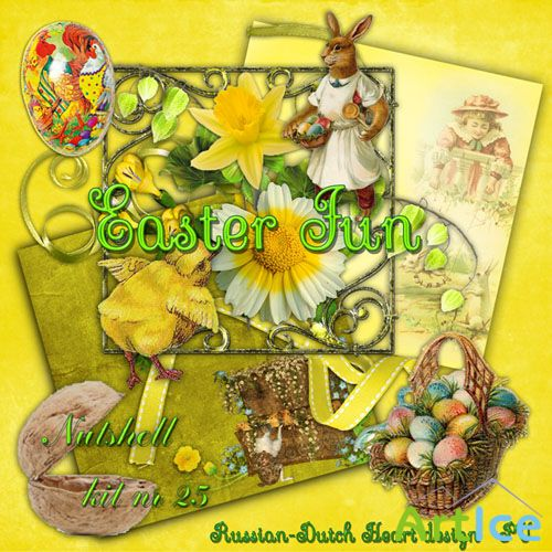 Easter Fun Kit PNG and JPG Files