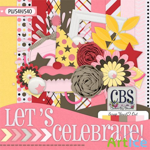 Lets Celebrate! Kit PNG and JPG Files