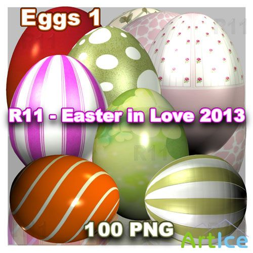Easter in Love - Eggs PNG Files