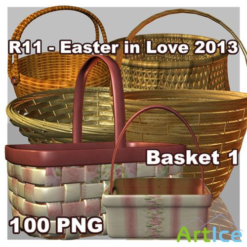 Easter in Love - Basket PNG Files