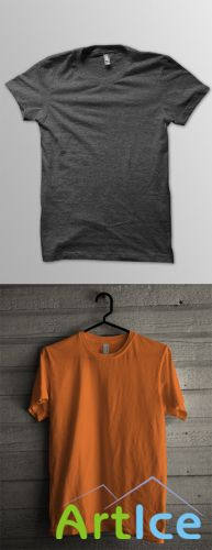 2 T-Shirt Mock up Templates PSD