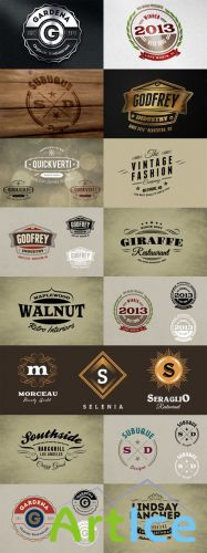 Branding Bundle - Logo Mock ups and Retro Badges Signs PSD