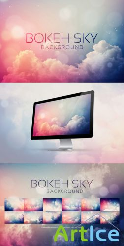12 Bokeh Sky Backgrounds