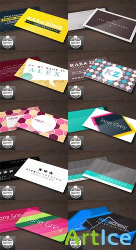 10 Vector Designers Business Cards