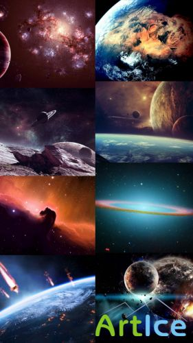 Space Wallpapers Set 6 JPG Files