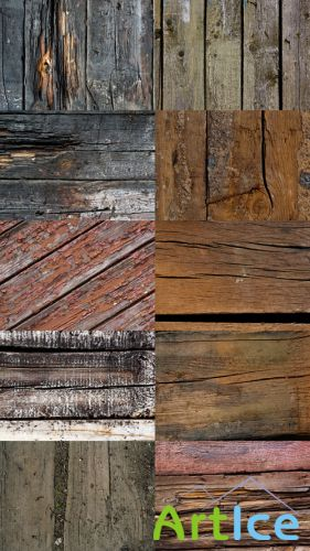 Texture in the form of dried-out old boards