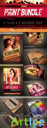 Print Graphic Design Bundle - PSD Template