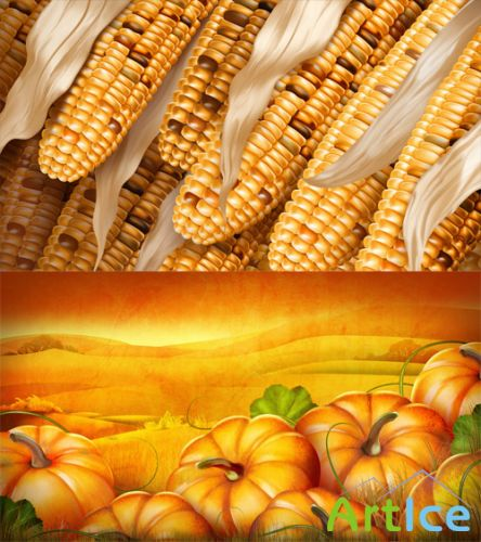 Corn Rows and Pumpkin Patch PSD