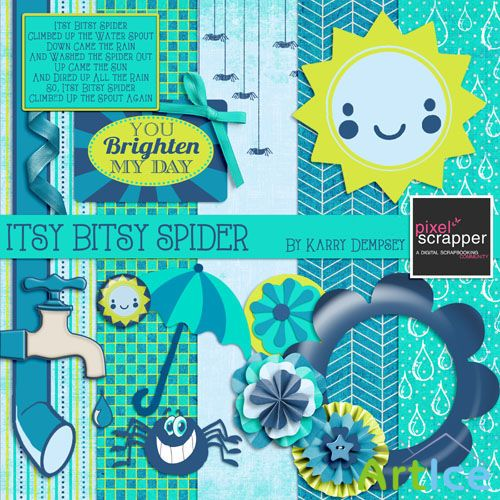 Scrap - Itsy Bitsy Spider PNG and JPG