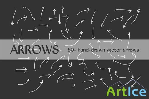 CreativeMarket - 50+ Hand Drawn Vector Arrows