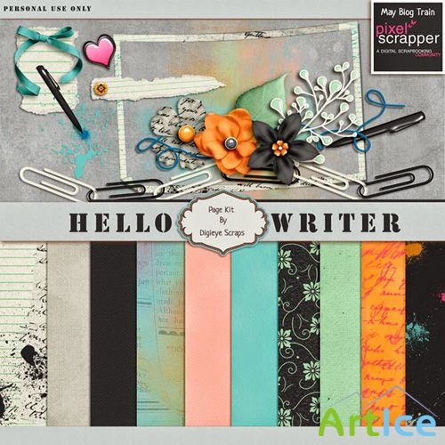 Scrap - Hello Writer PNG and JPG