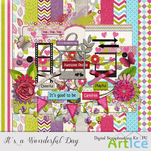 Scrap - Its a WOnderful Day PNG and JPG