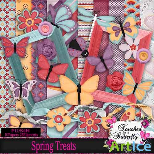 Scrap - Spring Treats JPG and PNG