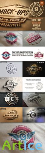 CreativeMarket - Photorealistic Logo Mock-Ups Vol.3