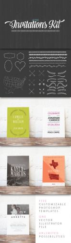 CreativeMarket - Wedding Invitation Starter Kit