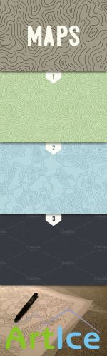CreativeMarket - 3 Topographic Elevation Maps