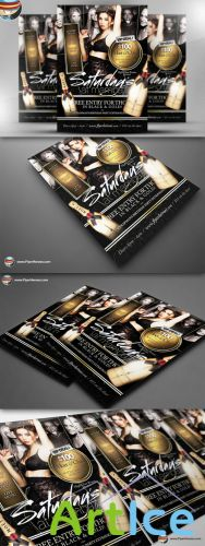 CreativeMarket - Saturdays At Mamba Flyer Template