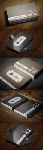 CreativeMarket - Retro Style Business Card Template