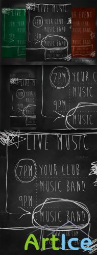 CreativeMarket - Live Music Chalk Flyer