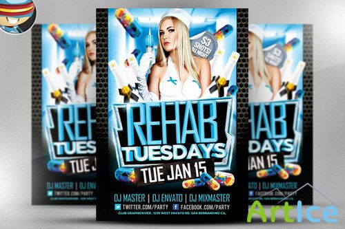 CreativeMarket - Rehab Tuesdays Flyer Template