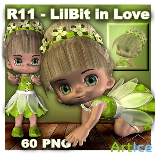 LilBit in Love PNG Files