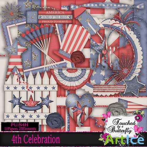 Scrap - 4Th Celebration JPG and PNG