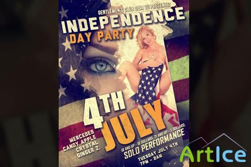 CreativeMarket - Independence Day Poster - PSD Flyer Template