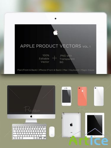 CreativeMarket - Apple Product Vector Mockups 29809