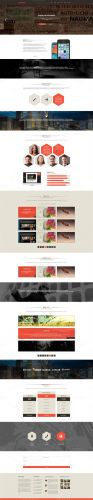 CreativeMarket - Lorans - One Page PSD Theme 21598