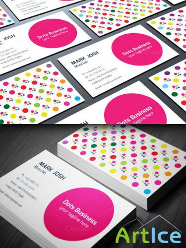 CreativeMarket - Doted Business Card