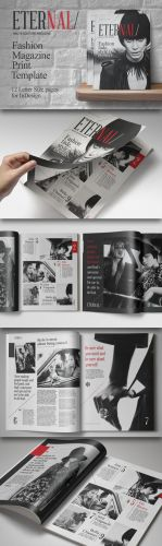 CreativeMarket - Fashion Magazine Print Template